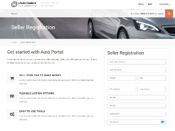 Seller Account - Account Registration Page
